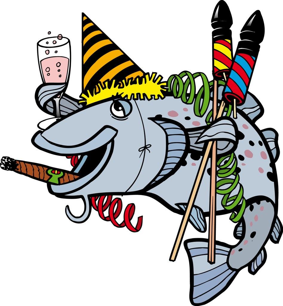 Поздравления с днем рождения прикольные рыбе